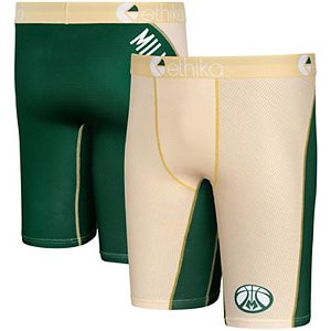 Men's Ethika for Fanatics Cream Milwaukee Bucks Micromesh Boxer Briefs