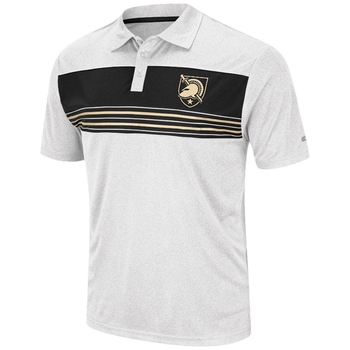 Men's Colosseum White Army Black Knights Brinkley Polo dNbGi