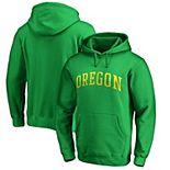 Men's Fanatics Branded Green Oregon Ducks Basic Arch Pullover Hoodie