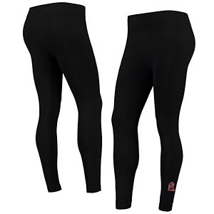 Women's ZooZatz Black Virginia Tech Hokies Fleece-Lined Leggings