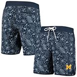 Men's G-III Sports by Carl Banks Navy Michigan Wolverines Wave Volley Swim Shorts