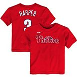 Toddler Nike Bryce Harper Red Philadelphia Phillies Player Name & Number T-Shirt