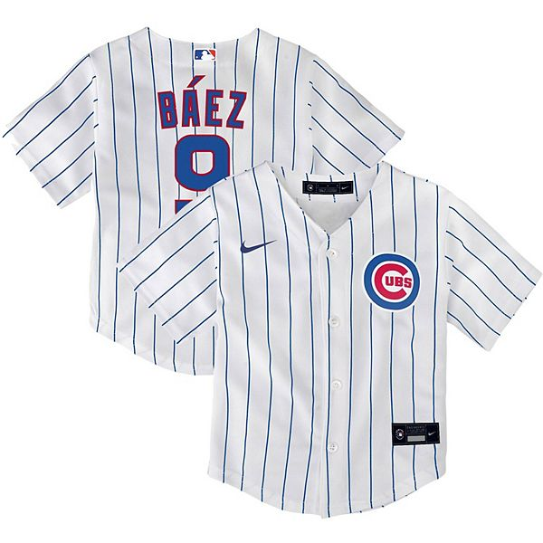 Toddler Nike Javier Baez White Chicago Cubs Home 2020 Replica Player Jersey