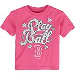 Toddler Pink Boston Red Sox Ball Girl T-Shirt