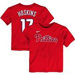 Toddler Nike Rhys Hoskins Red Philadelphia Phillies Player Name & Number T-Shirt