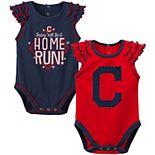 Newborn & Infant Navy/Red Cleveland Indians Shining All-Star 2-Pack Bodysuit Set