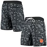Men's G-III Sports by Carl Banks Black Clemson Tigers Wave Volley Swim Shorts