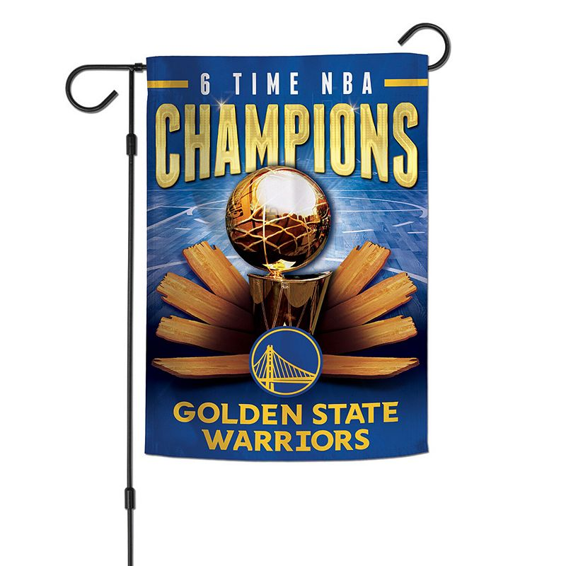 """WinCraft Golden State Warriors 12"""" x 18"""" Championship Years Double-Sided Garden Flag"""