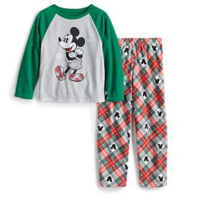 Disney's Mickey Mouse Boys 4-12 Plaid Top & Bottoms Pajama Set by Jammies For Your Families®