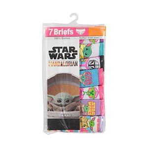Girls 4-8 Star Wars The Child aka Baby Yoda 7-Pack Cotton Briefs