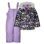 Girls 4-8 Carter's Butterfly Print Snowsuit