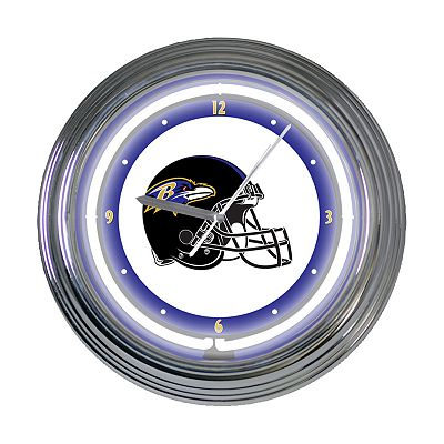 Baltimore Ravens Neon Wall Clock