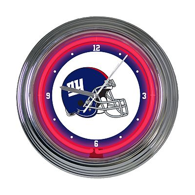 New York Giants Neon Wall Clock