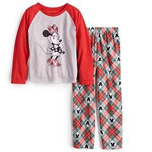 Disney's Minnie Mouse Girls 4-12 Plaid Top & Bottoms Pajama Set by Jammies For Your Families®