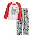 Jammies For Your Families® Girls 4-12 Star Wars The Mandalorian & The Child aka Baby Yoda Holiday Pajama Set
