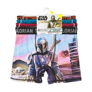 Boys 6-10 Star Wars The Mandalorian The Child aka Baby Yoda 4-Pack Athletic Boxer Briefs