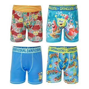 Boys 6-10 SpongeBob SquarePants 4-Pack Athletic Boxer Briefs