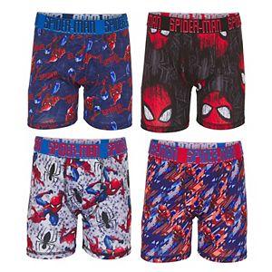 Boys 4-8 Marvel Spider-Man 4-Pack Athletic Boxer Briefs Underwear