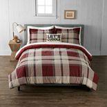 Cuddl Duds Red Black Plaid Heavyweight Flannel Comforter Set