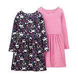 Girls 4-14 Carter's 2-Pack Unicorn & Striped Jersey Dresses