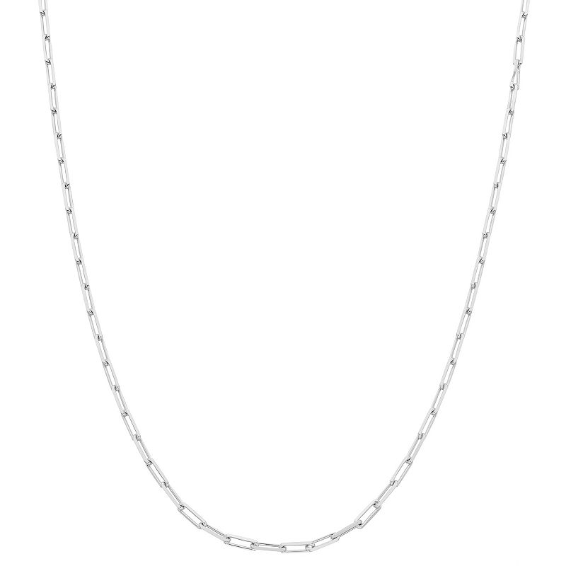 """Sterling Silver Paper Clip Chain Necklace, Women's, Size: 18"""""""
