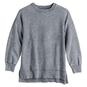 Juniors' SO® Oversized Crewneck Tunic Sweatshirt