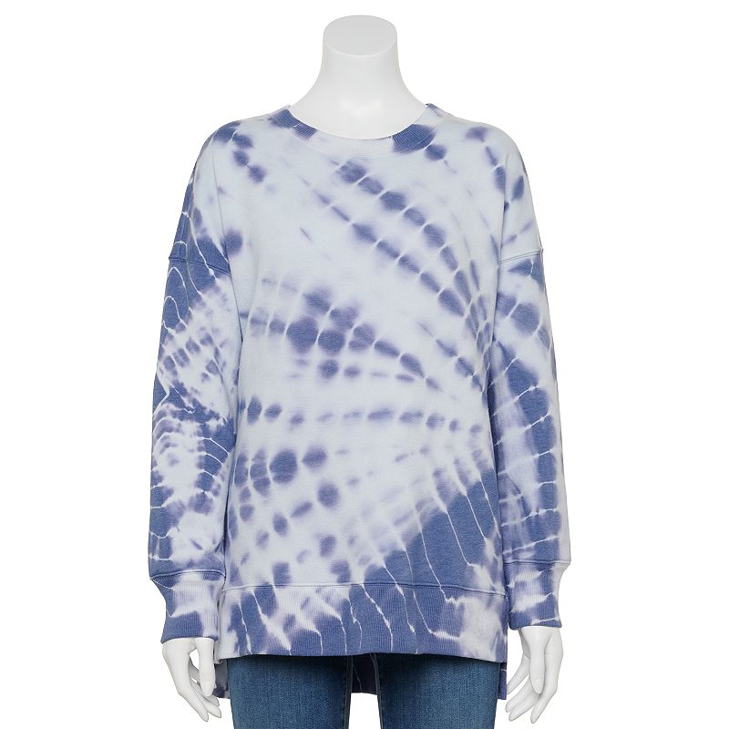 Juniors' SO Oversized Crewneck Tunic Sweatshirt. Girl's. Size: XS. Multicolor