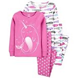 Girls 4-14 Carter's 4-Piece Dream Cotton Pajamas
