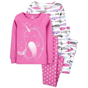 Girls 4-14 Carter's 4-Piece Dream Cotton Pajamas