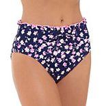 Juniors' SO® Floral High-Waisted Bikini Bottoms