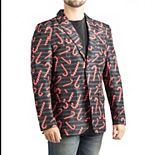 Men's Candy Cane Christmas Blazer