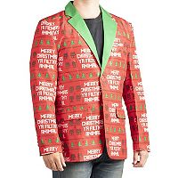 Licensed Character Men's Home Alone Filthy Animal Christmas Blazer
