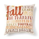 Celebrate Fall Together Harvest Fall Words Throw Pillow