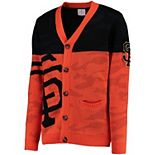 Men's Orange San Francisco Giants Camouflage Cardigan Sweater
