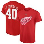 Youth Reebok Henrik Zetterberg Red Detroit Red Wings Name and Number Player T-Shirt