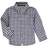 Infant Purple TCU Horned Frogs Logan Gingham Logo Button-Down Long Sleeve Shirt