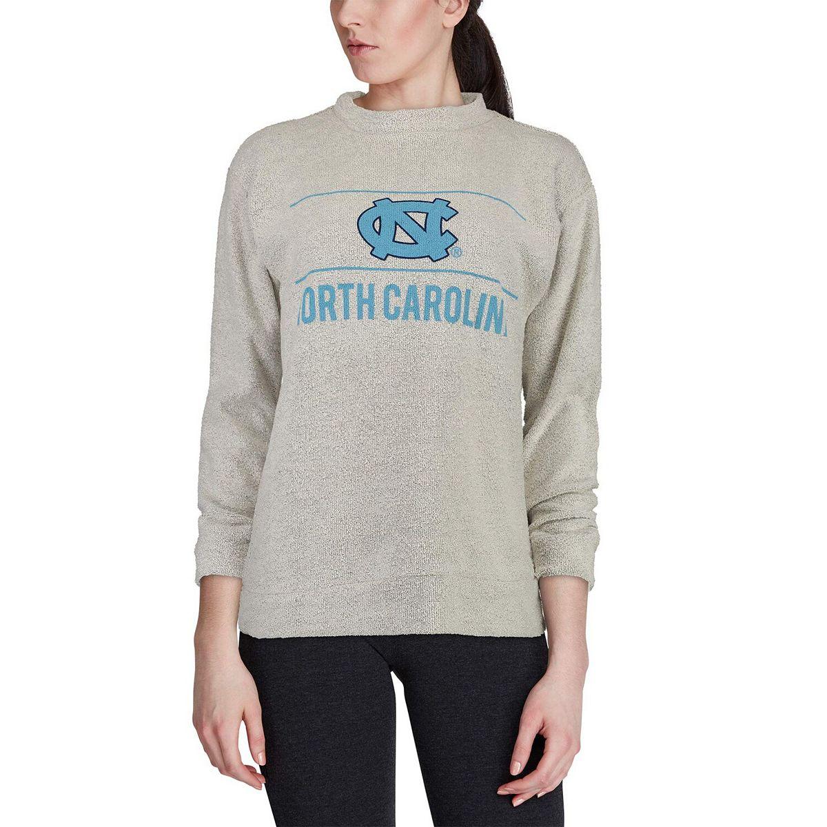 Women's Woolly Threads Natural North Carolina Tar Heels Original Woolly Pullover Sweatshirt cdoWt