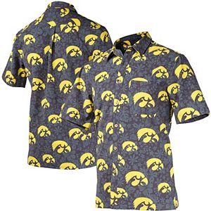 NCAA Mens Floral Shirt x Large Iowa Hawkeyes