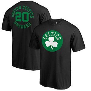 Men's Fanatics Branded Gordon Hayward Black Boston Celtics Round About Name & Number T-Shirt