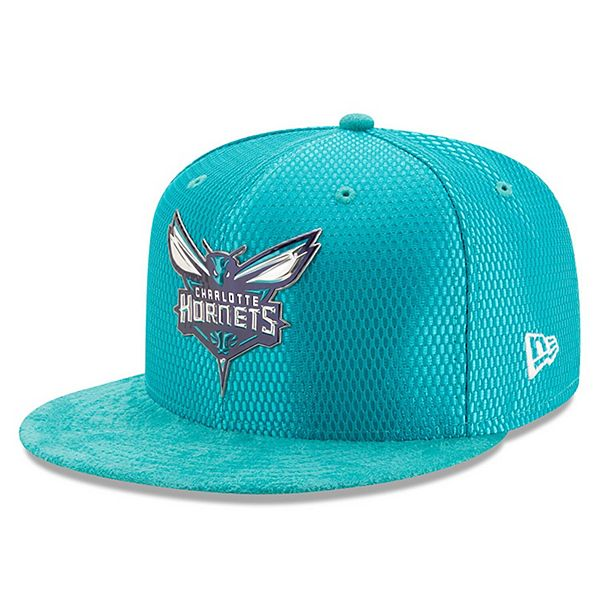 Men S New Era Teal Charlotte Hornets 2017 Nba Draft Official On Court Collection 59fifty Fitted Hat