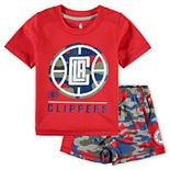 Toddler Red LA Clippers MVP T-Shirt & Shorts Set