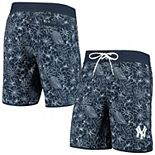 Men's G-III Sports by Carl Banks Navy New York Yankees Wave Valley Swim Trunks