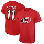 Youth Reebok Jordan Staal Red Carolina Hurricanes Name and Number Player T-Shirt