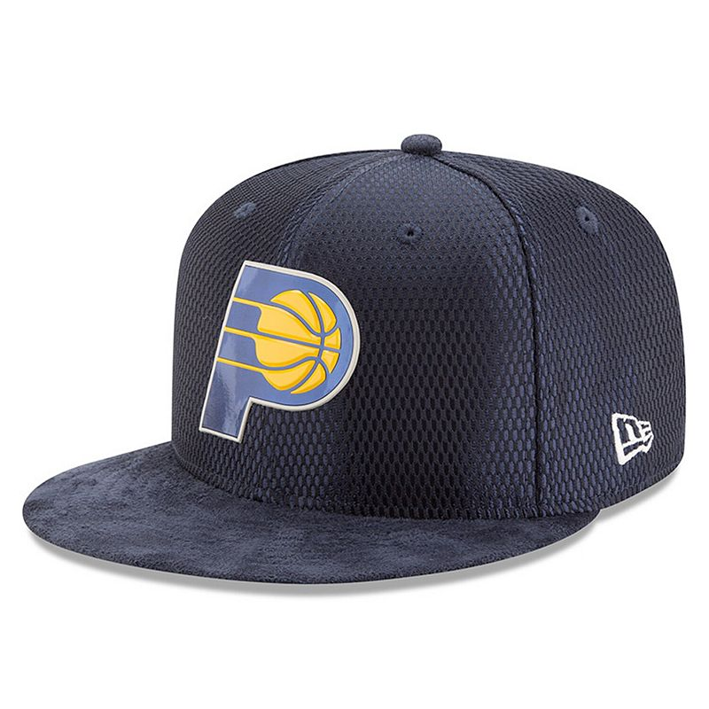 Men's New Era Navy Indiana Pacers 2017 NBA Draft Official On Court Collection 59FIFTY Fitted Hat, Size: 6 7/8, Blue