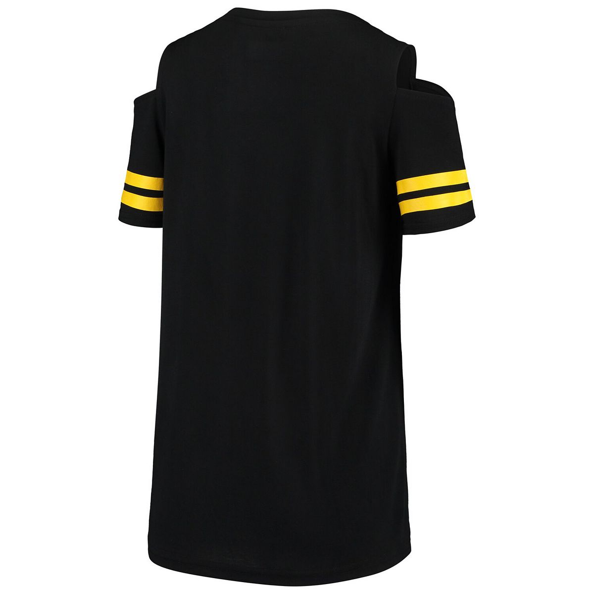 Women's G-III 4Her by Carl Banks Black Pittsburgh Pirates Extra Inning Cold Shoulder T-Shirt Tgtw3
