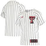 Youth Under Armour White Texas Tech Red Raiders Replica Baseball Jersey