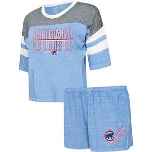 Women's Concepts Sport Royal Chicago Cubs Loyalty Boyfriend T-Shirt & Shorts Sleep Set