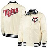 Men's Starter Cream Minnesota Twins The Captain II Full-Zip Jacket