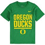 Youth Nike Heathered Green Oregon Ducks Legend Stacked Performance T-Shirt