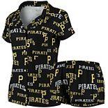Women's Concepts Sport Black Pittsburgh Pirates Fairway Shirt & Shorts Sleep Set